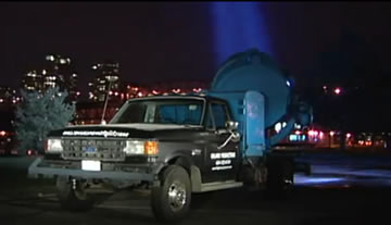 Truck mounted searchlights